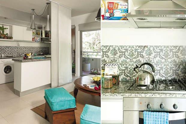 la cocina integrada de este pequeo ambientado por little vi puede cerrarse gracias a los paneles de tela usilver screenu