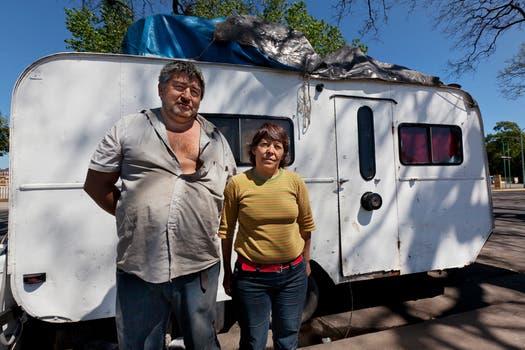 La pareja sueña con mudarse en unos años a un terreno propio. Foto: LA NACION / Ezequiel Muñoz