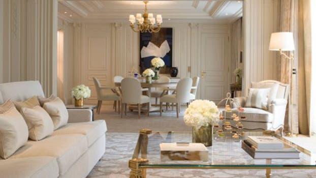 En la suite presidencial predominan los colores claros. Foto: Four Seasons