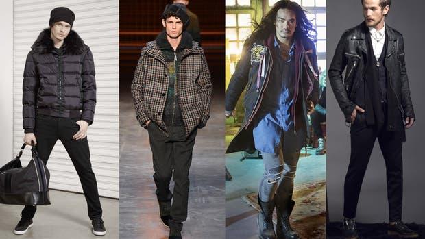 Las texturas del invierno: tweed, denim, cuero y pieles