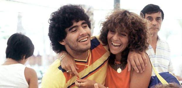 Diego con Claudia en la concentración de Benidorm para el Mundial de 1982