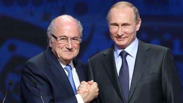 Blatter y Putin, en el pasado