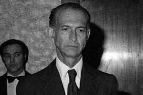 José Alfredo Martínez de Hoz, en una imagen de los setenta