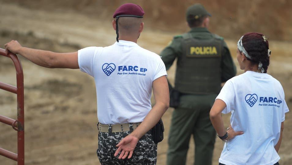 El acto de abandono de las armas de las FARC. Foto: AFP / Raul Arboleda