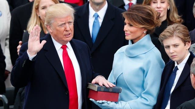 Donald Trump asume compo presidente de EE.UU