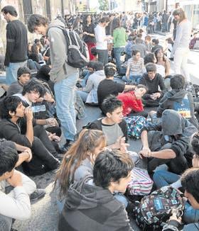 La protesta estudiantil en la sede del rectorado