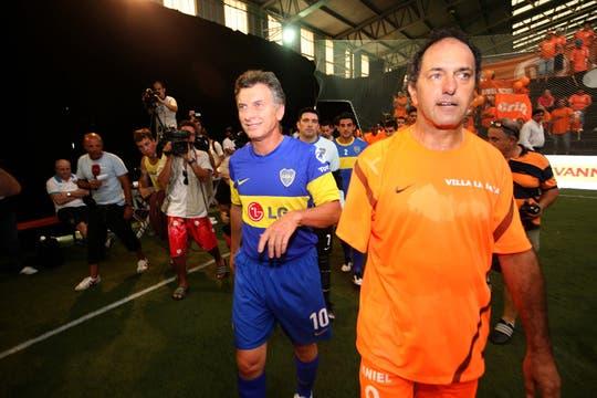 El partido entre Scioli y Macri acaparó todas las miradas. Foto: LA NACION / Mauro Rizzi