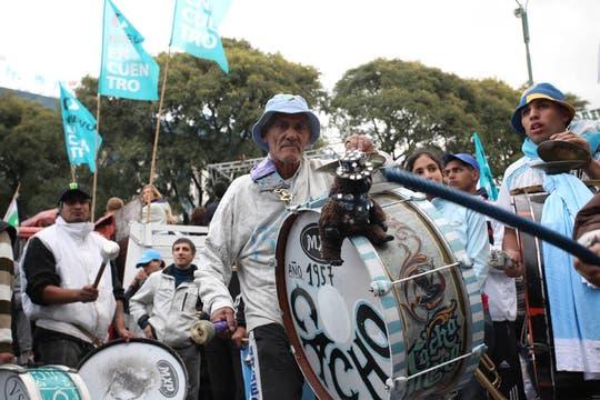 Masivo acto de Cristina Kirchner en homenaje al triunfo de Néstor Kirchner en 2003. Foto: LA NACION / Guadalupe Aizaga