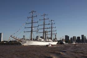 La fragata ARA Libertad es el buque escuela de la Marina argentina