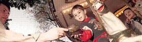 Un niño en una calseita de Buenos Aires