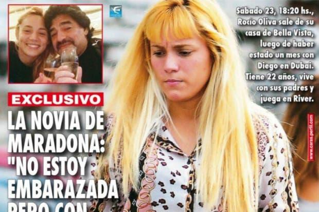 Rocío Oliva y Diego Maradona pasaron juntos el último mes en Dubai