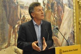 El jefe de gobierno porteño, Mauricio Macri