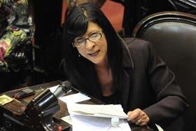 La diputada Diana Conti fue una de las encargadas de cuestionar la marcha del 18F