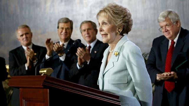 Nancy Reagan, en un acto público
