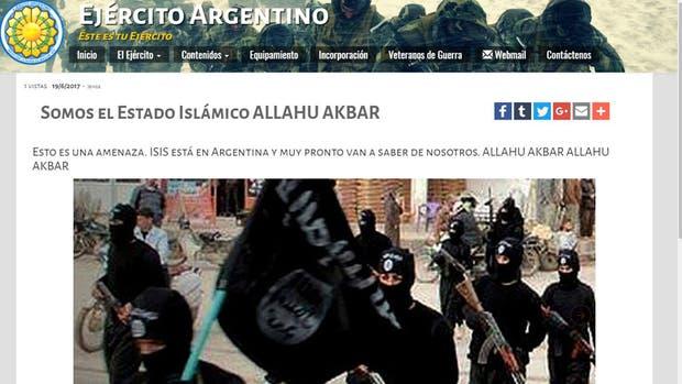 Hackearon el sitio del Ejército Argentino