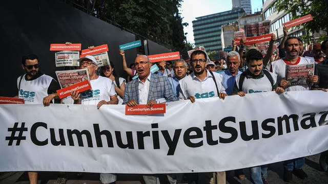 Erdogan y la persecución en Turquía: enjuició a 19 periodistas que no lo apoyan