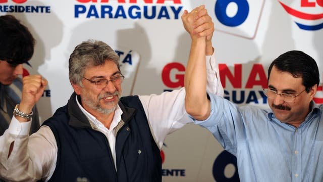 Fernando Lugo y Federico Franco en el 2008