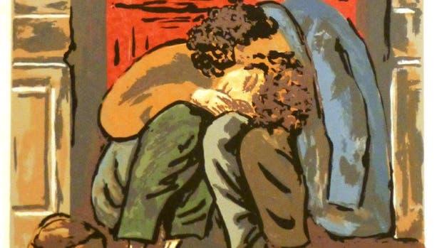 Obra de Antonio Berni que se exhibe a la venta en la muestra Grandes Maestros en Pequeños Formatos