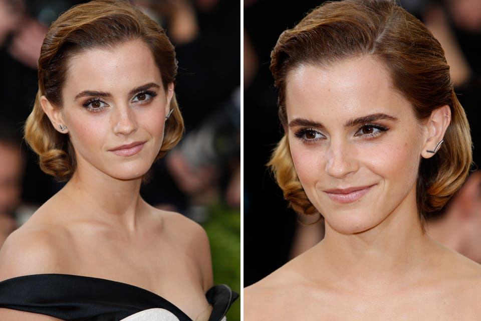 Otro de los elegidos fue este tupé con ondas que eligió Emma Watson para la Gala del MET. Foto: OHLALÁ! /Latinstock