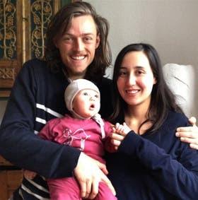 Fellmer, junto a su familia