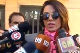 Karina Jelinek al salir del juzgado hoy