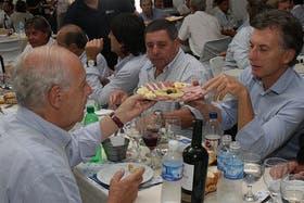 Macri y Lavagna juntos durante un almuerzo en Expoagro