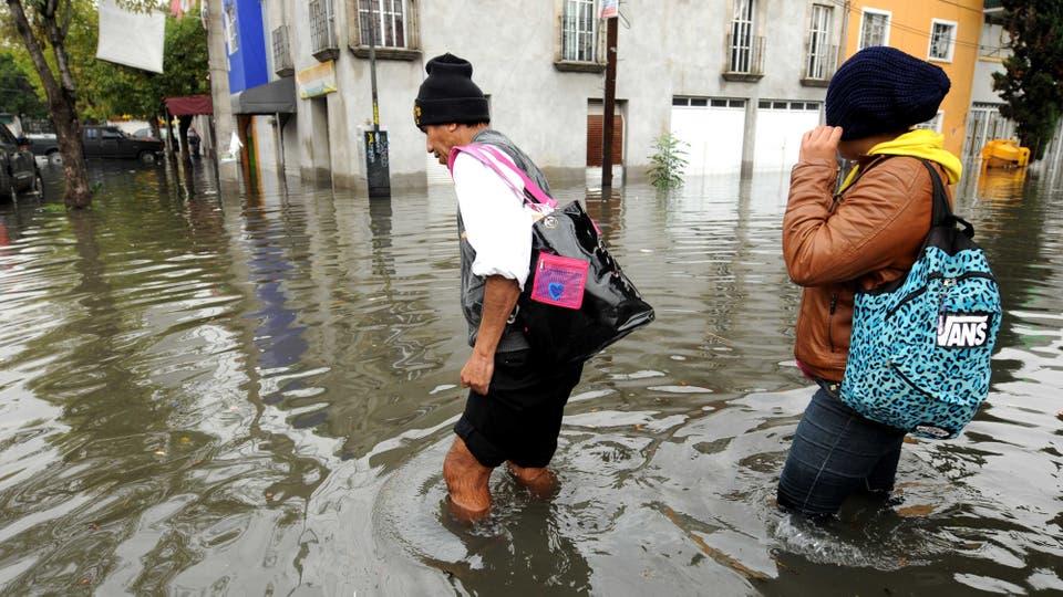La gran cantidad de lluvia caida en muy poco tiempo causó graves inundaciones. Foto: El Universal via ZUMA Wire/dpa