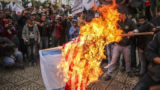 Protestas en Palestina. Intifada palestina. Manifestación en Bruselas