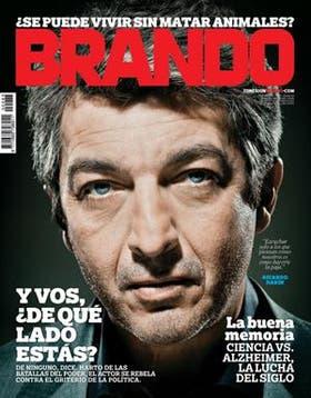La tapa de la revista Brando de enero 2013
