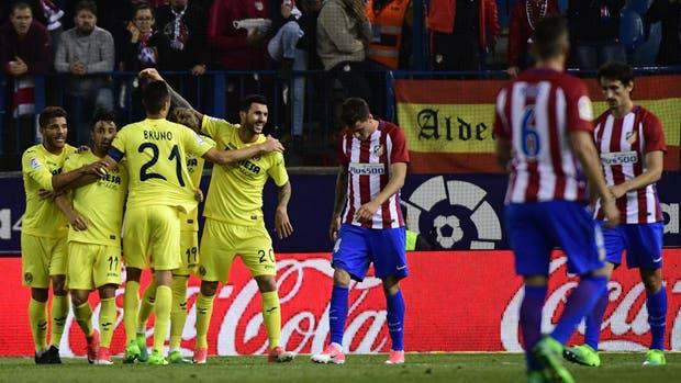 Villarreal celebra la victoria ante Atlético de Madrid