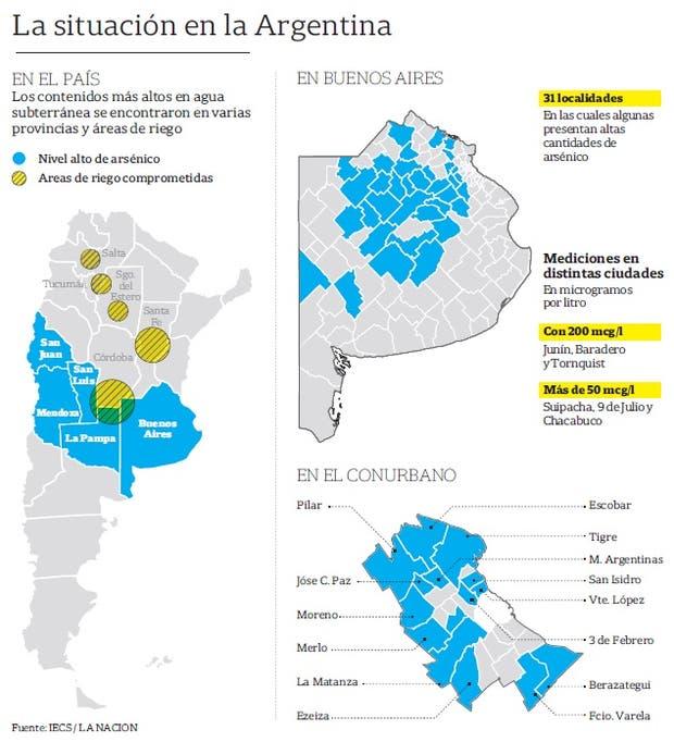 Un mapa indica cuáles son las localidades más afectadas