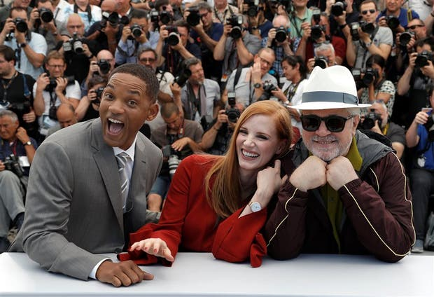 Will Smith, Jessica Chastain y Pedro Almodóvarr