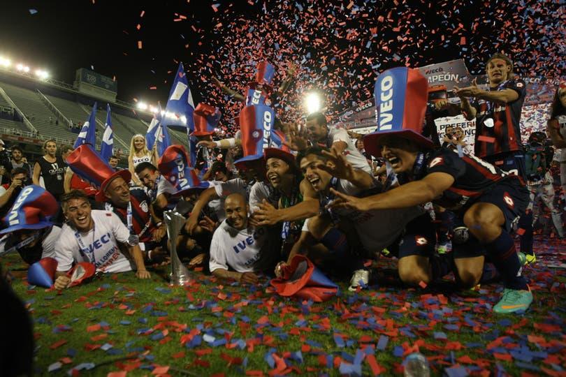 San Lorenzo campeón en la última fecha. Foto: LA NACION / Mauro Alfieri