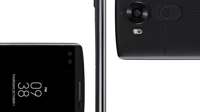 La doble cámara frontal del LG V10