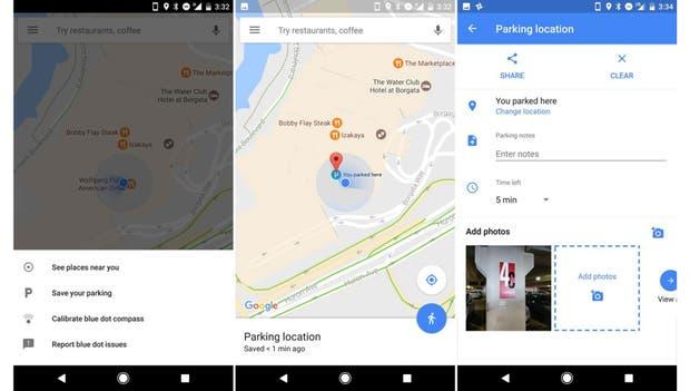 La función para identificar dónde quedó el auto estará disponible en la versión 9.49 de Google Maps