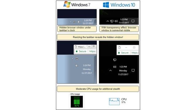 Cómo se crea una venta que se esconde detrás de la barra de herramientas de Windows