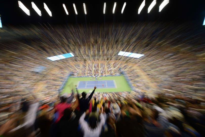 Gran postal del último partido del certamen entre Nadal y Djokovic. Foto: AFP