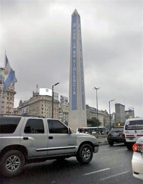 En el Obelisco se alertó sobre la violencia de género