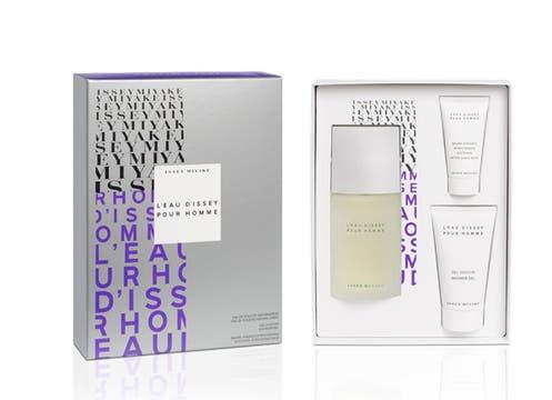 Perfume Issey Miyake, L´Eau d´Issey pour Homme; eau de toilette de 75ml, un gel de baño de 75 ml y un alter shave de 30 ml; $ 289. Foto: lanacion.com