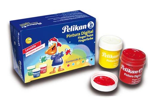 Pinturas Pelikan para hacer dibujos con los dedos y fomentar la creatividad de los más chicos ($15, 90). Foto: lanacion.com