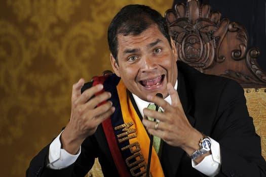 Correa, en cadena nacional, tras su liberación. Foto: EFE / lanacion.com