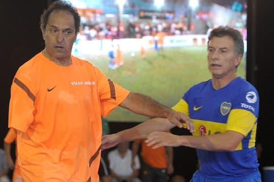El partido entre Scioli y Macri acaparó todas las miradas. Foto: Prensa Scioli