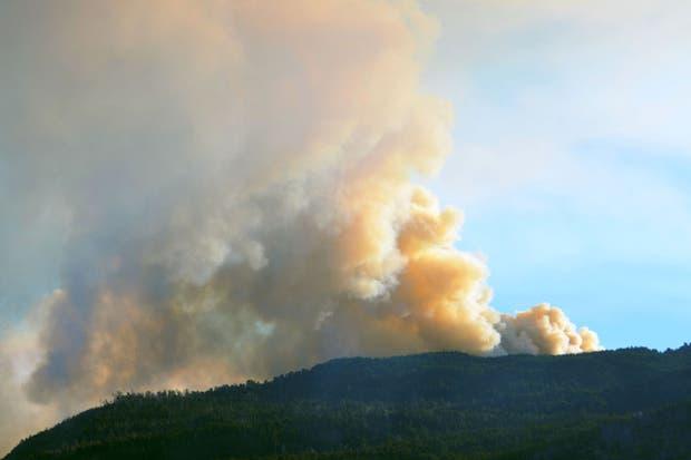 Continúan los esfuerzos por controlar el incendio forestal en el noroeste de Chubut