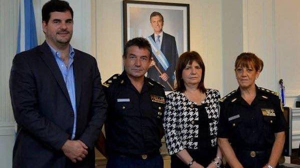 Las nuevas autoridades de la Federal, junto a Burzaco y Bullrich