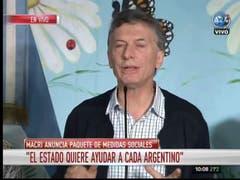 Macri anuncia paquete de medidas