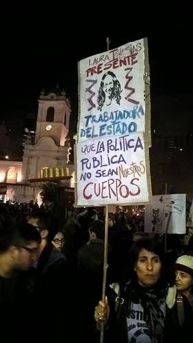 Reclamos en la última marcha de #NiUnaMenos