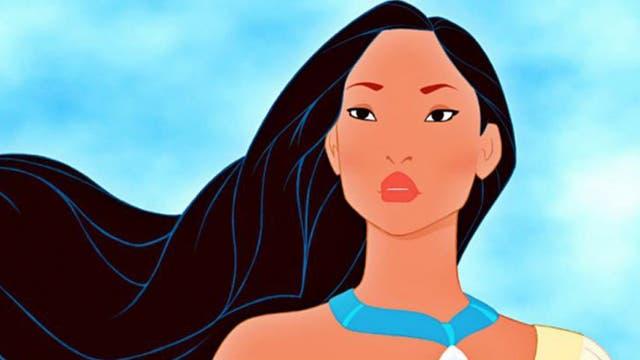 Imagen de la película Pocahontas, de Disney, que contó la historia de la hija mayor del jefe de un pueblo nativo en Norteamérica