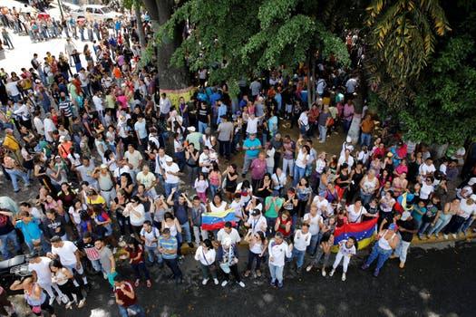 Los venezolanos salieron a la calle en Caracas. Foto: Reuters