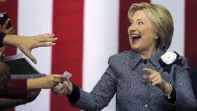 La ex secretaria de Estado podría convertirse en la primera presidenta mujer de EE.UU.