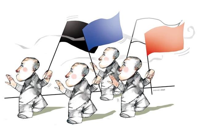 Le arrojan huevos a Marine Le Pen en pleno acto electoral